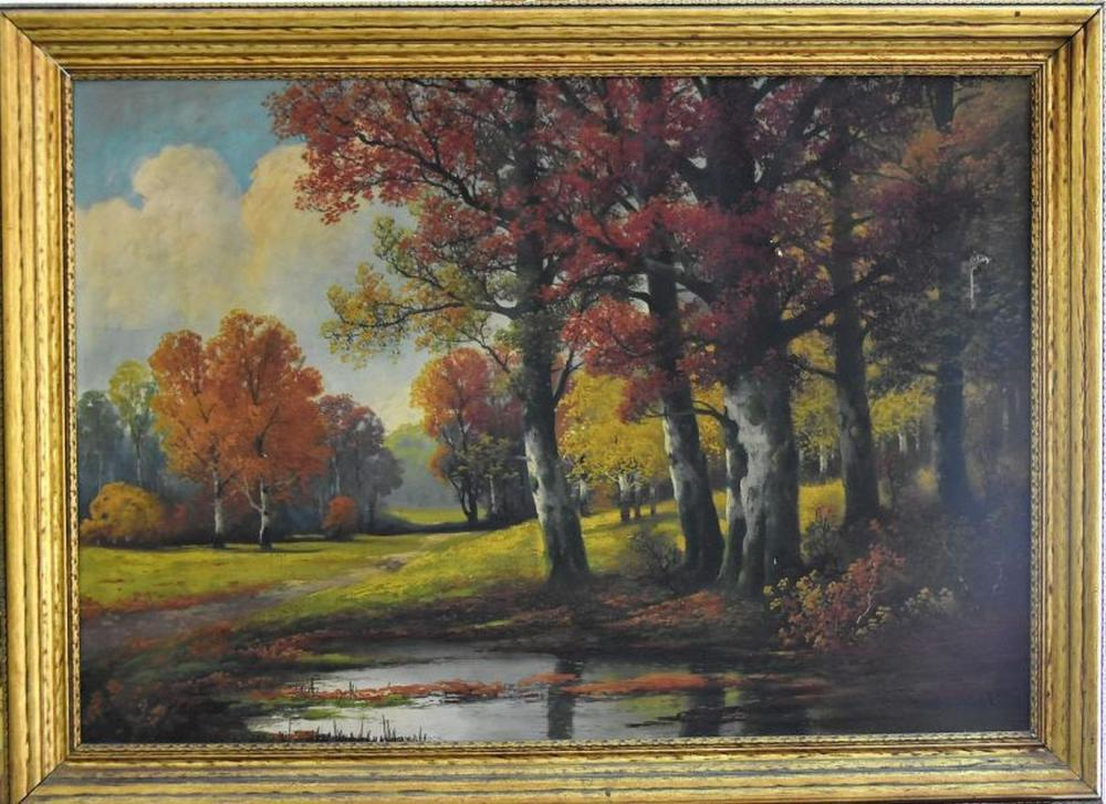 Original E. Brown (XVIII-XIX) Oil on Canvas Hand Signed