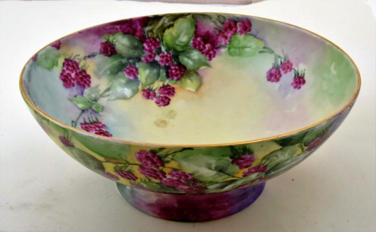 Hand painted limoges centerpiece porcelain bowl