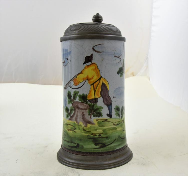 Hand painted old german stein