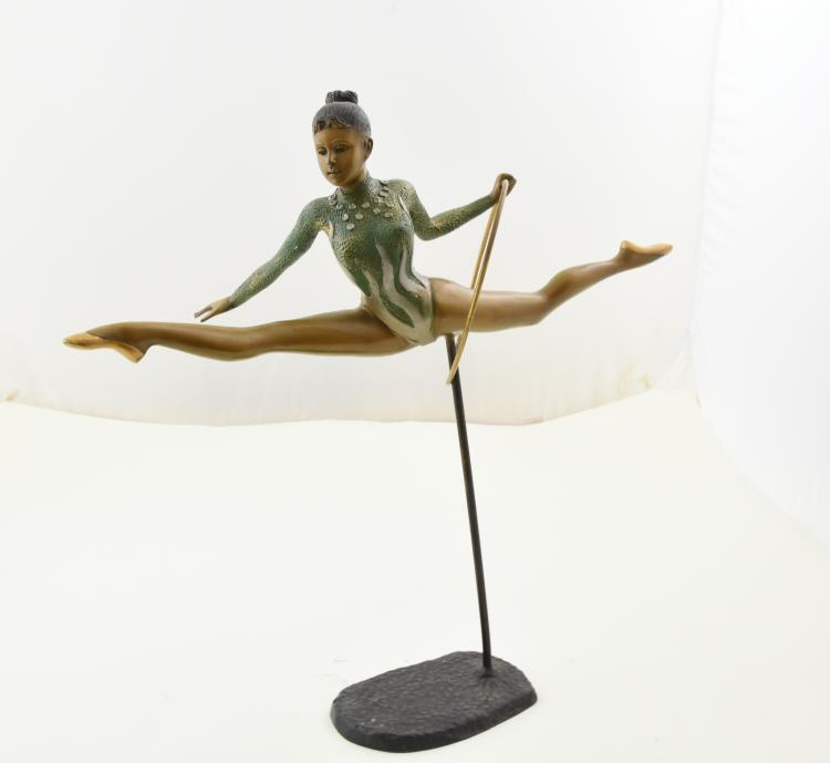Bronze gymnast by anton murene