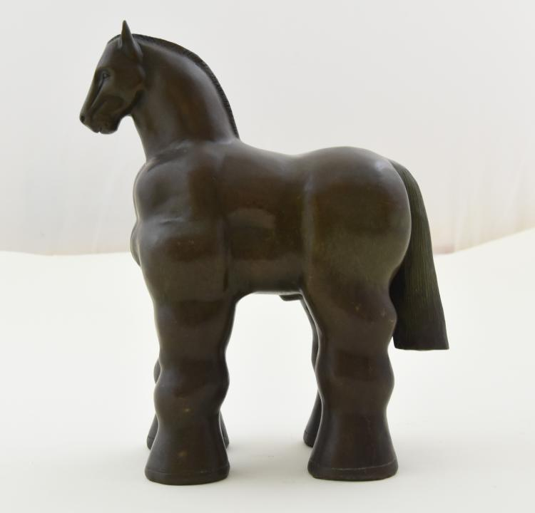 Bronze horse by botero