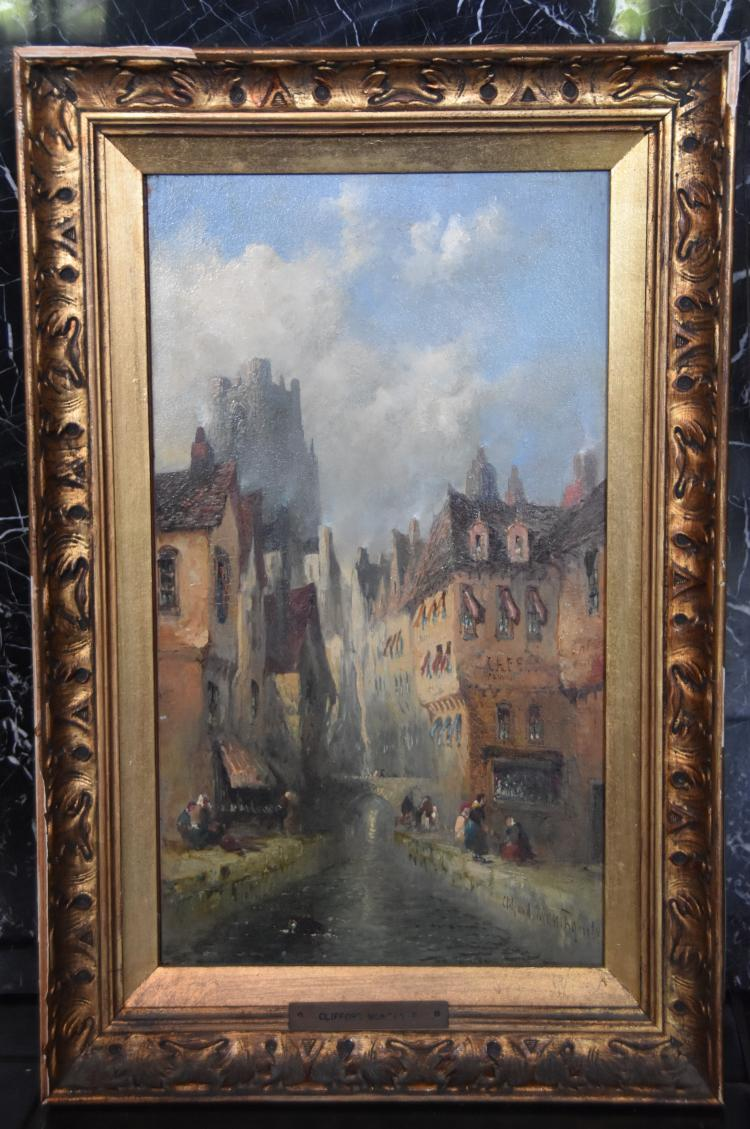 Clifford montague cityscape painting