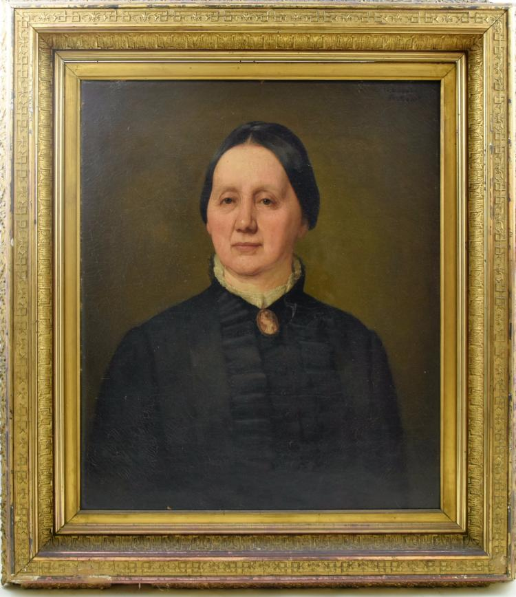 Portrait of woman in mourning