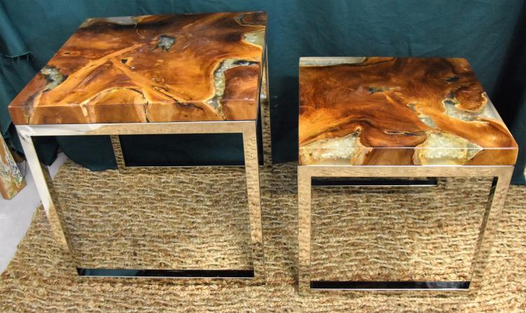 Quoadro glaze nesting tables