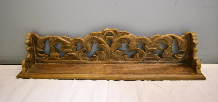 Greek cantus leaf corinthian decorative carved wall shelf