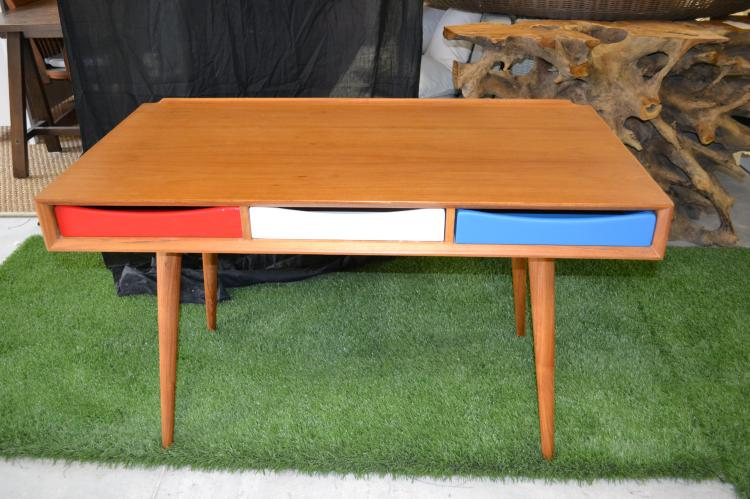 Nordic teak desk with drawers