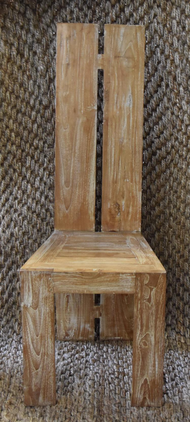 (4) Whitewash pickled back chairs