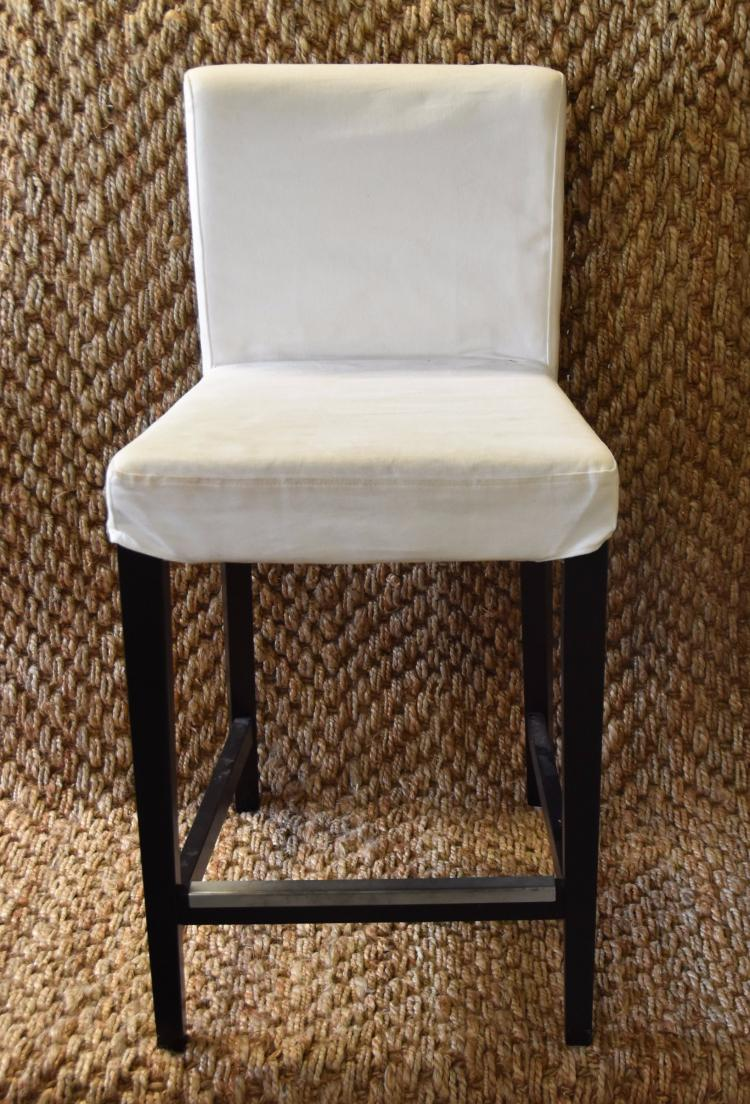 (2)Removable slip covered bar stools