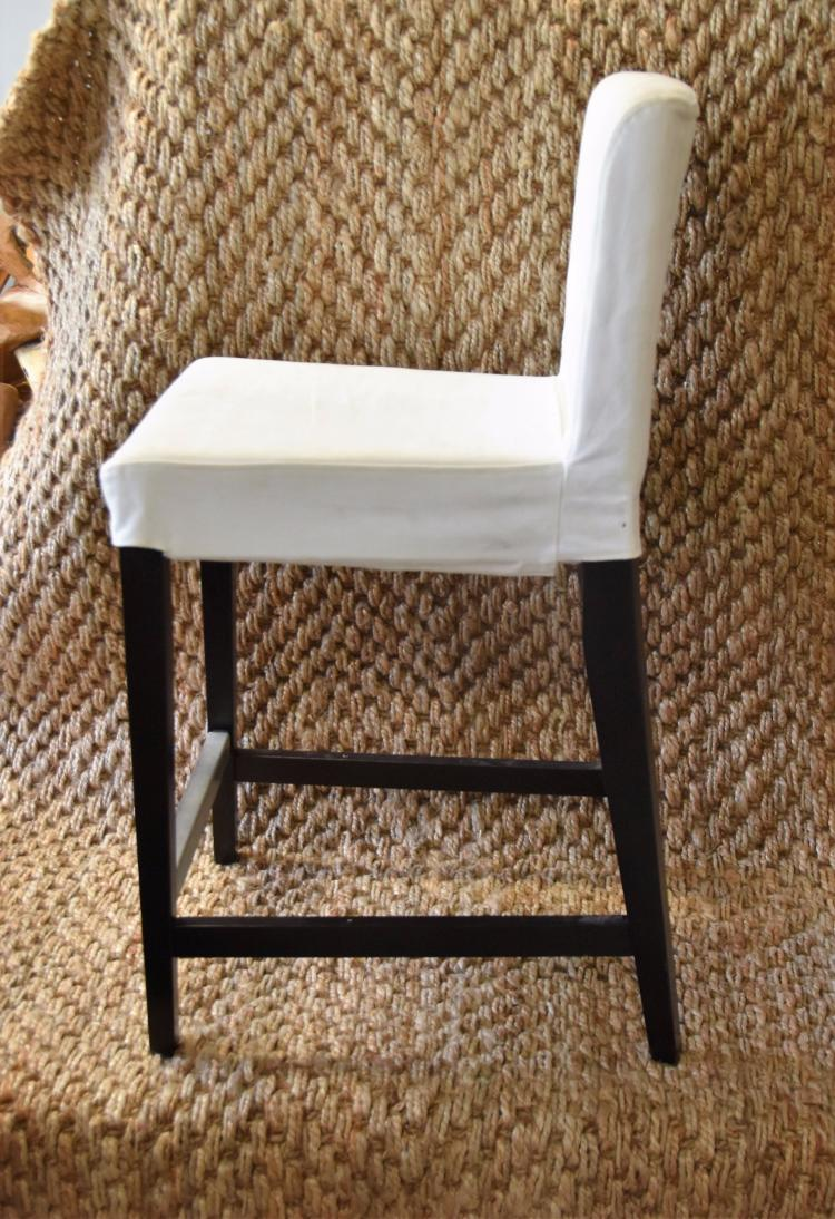 2 Removable Slip Covered Bar Stools