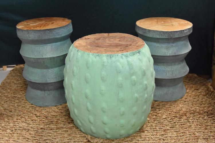 Patina mediterranean side table set of 3