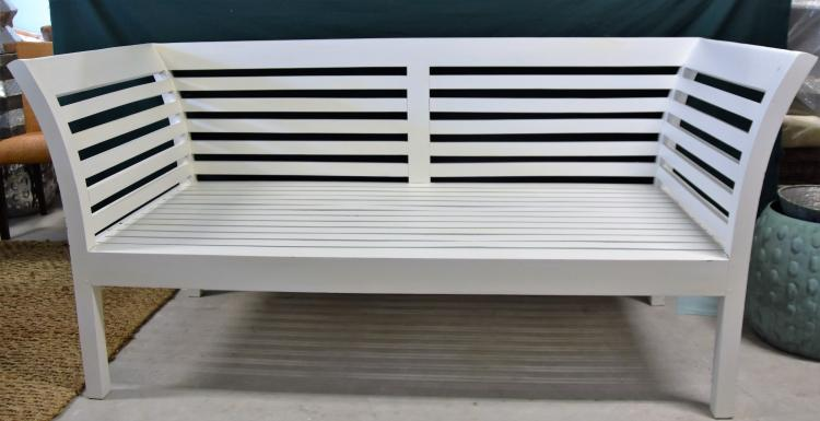 Portmans white bench