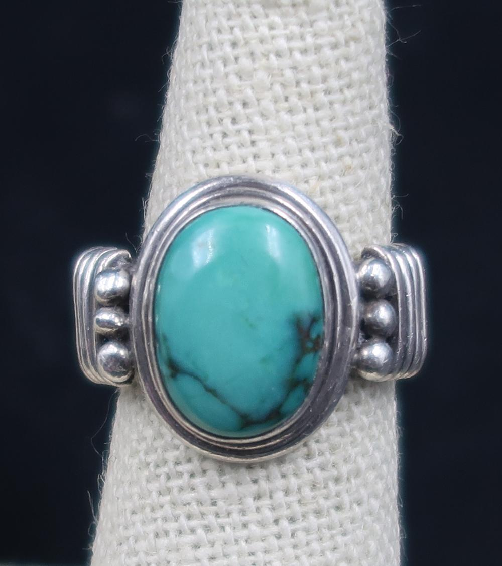 TURQUOISE RING STERLING SILVER