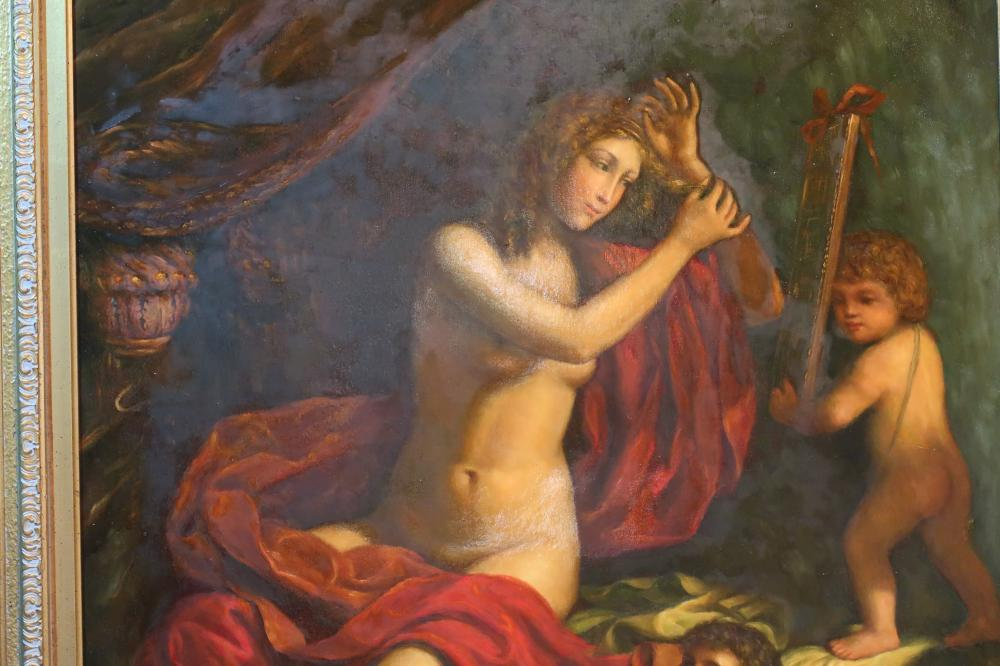 SZNDO BOTTICELLI IN THE MANNER OF BOTTICELLI OIL ON CANVASE