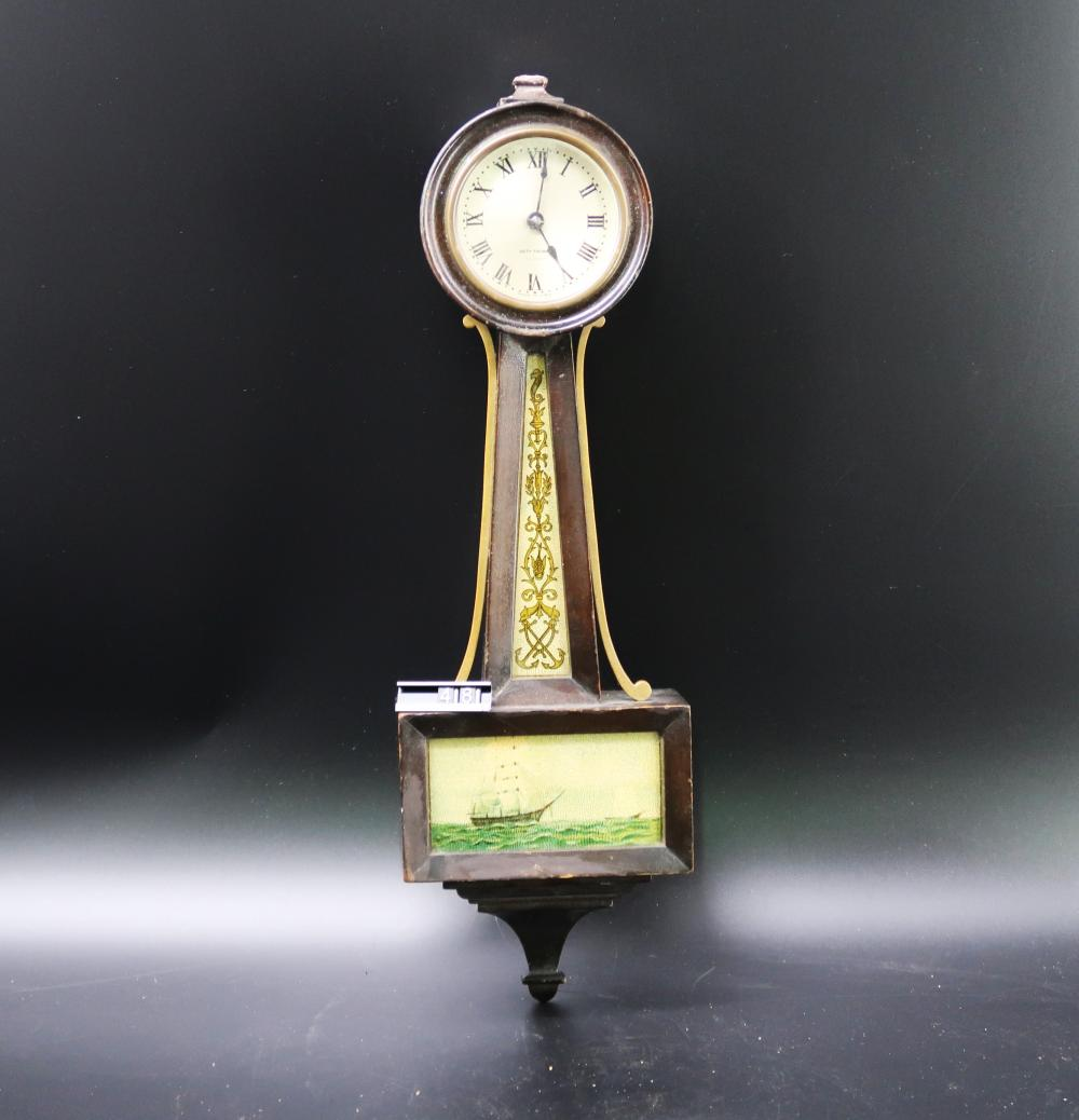 Lot 353: Banjo Seth Thomas Clock