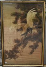 Emperor's 250 yr Old Suzhou Silk Large Embroidery Eagle