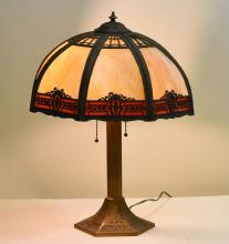 Miller Victorian Slag Glass Lamp