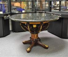 Granite Topped Hand Carved Table