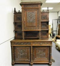 Hand Carved French Wall Unit