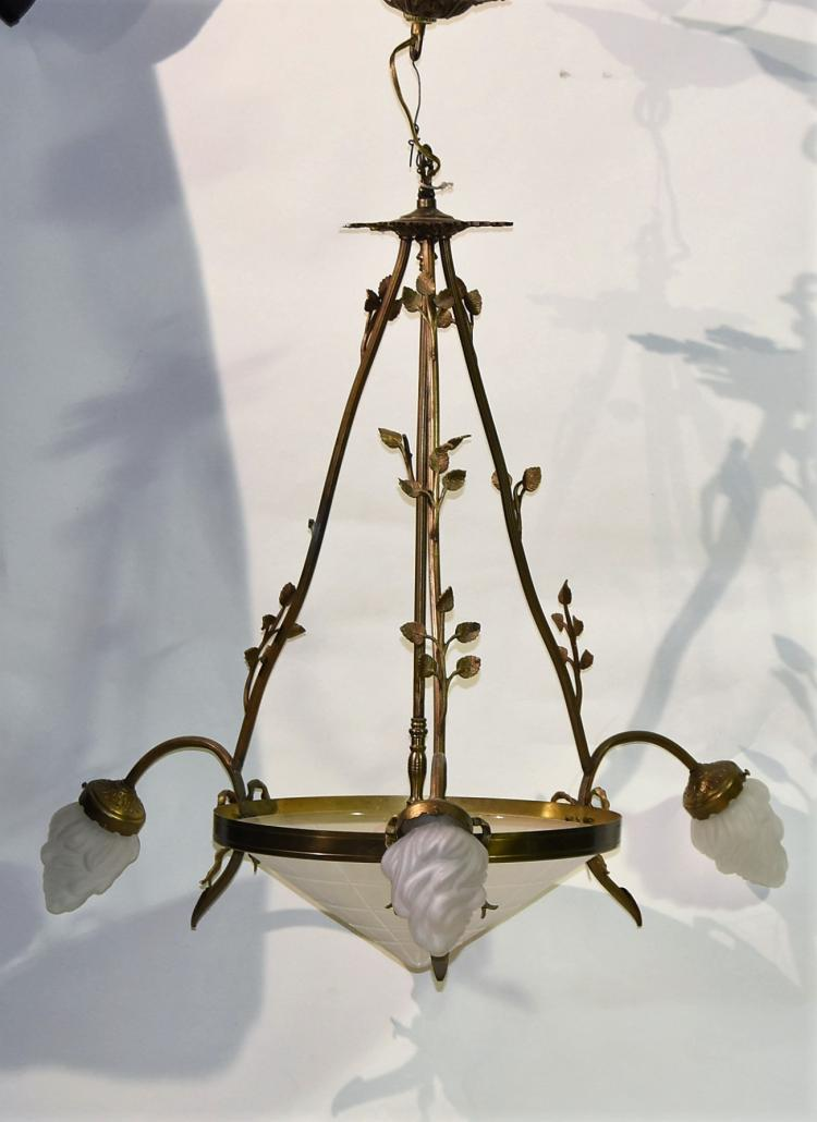 20s French Rose Bud Chandelier