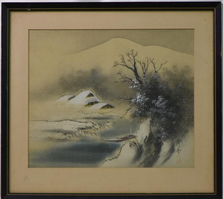 Picture Japanese painting signed