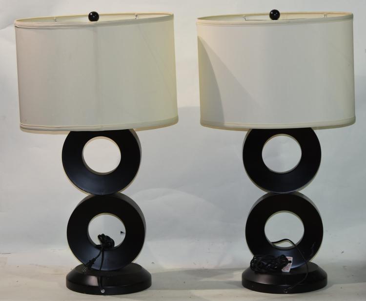 2 Black Mid-Centry Lamps