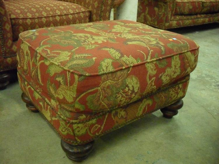 Admirable Broyhill Maroon And Gold Paisley Ottoman Dailytribune Chair Design For Home Dailytribuneorg