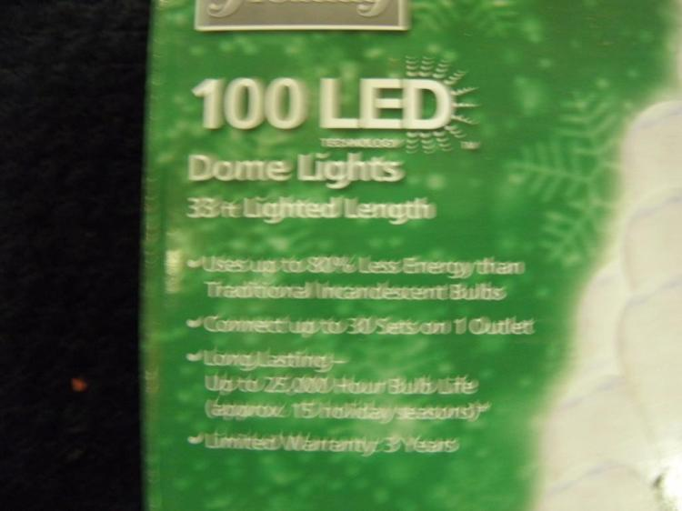 Home Accents Holiday 100 Led Dome Lights Clear 33 Feet Of Light