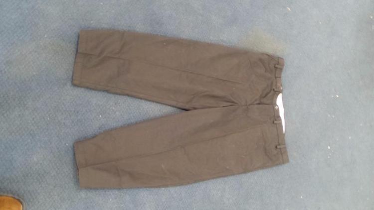 George Mens 40 X 30 Mens Black Dress Pants W Flat Front 4x Gray