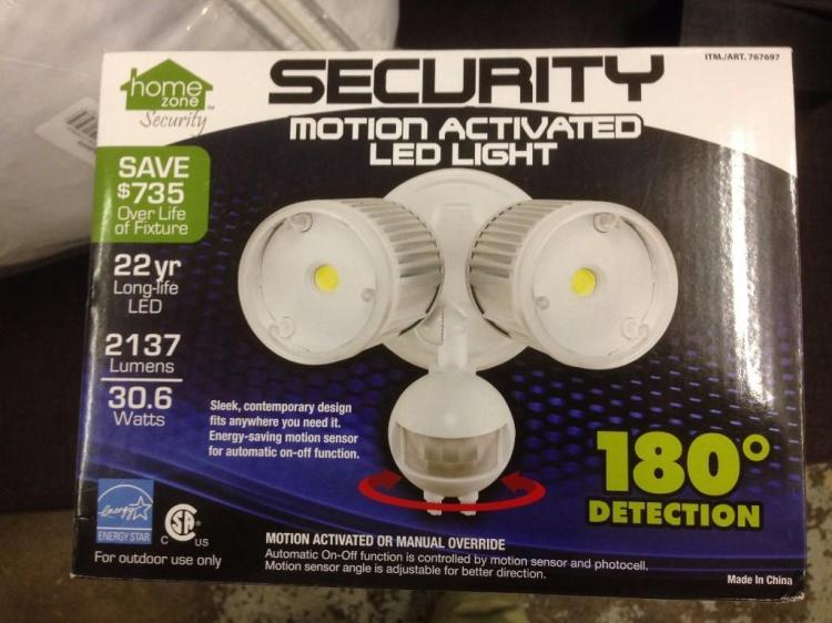 Lot Home Zone Security Motion Activated Led Security Light