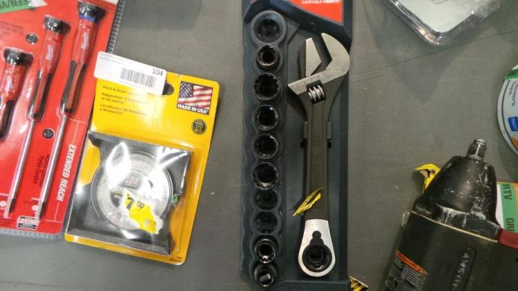 CRESCENT Pass Through Adjustable Wrench/Socket Set - Missing