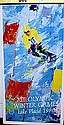 XIII Olympic Winter Games Lake Placid 1980 Double Signed By LeRoy Neiman AR202