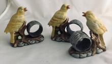 Lot 265: Bird Napkin Rings