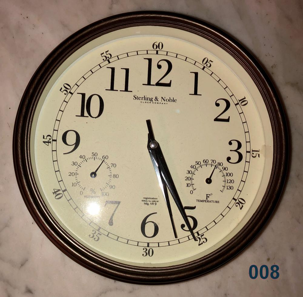 Lot 8: Wall Clock