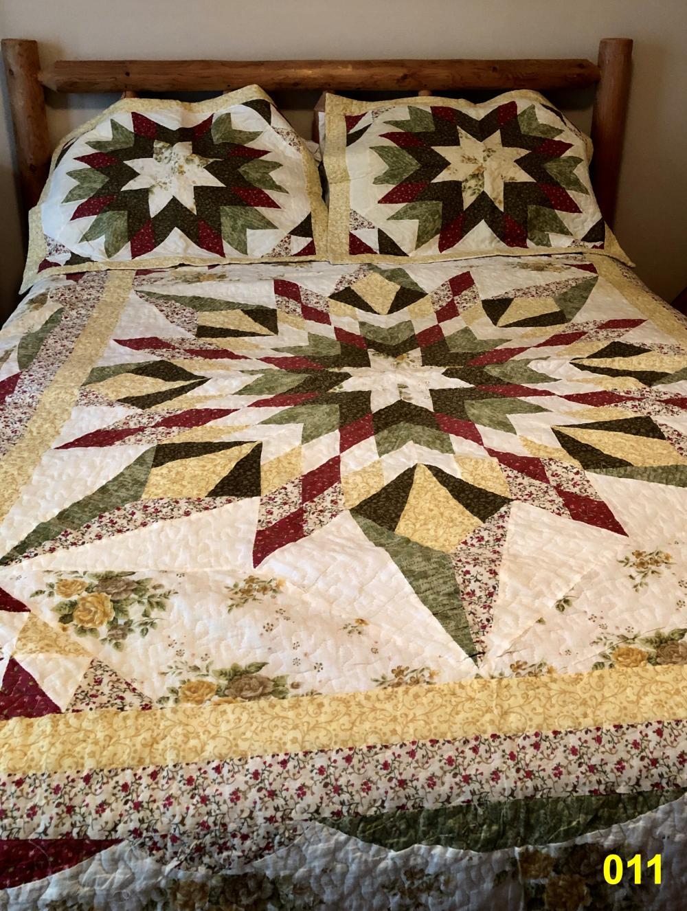 Quilt with Two Shams