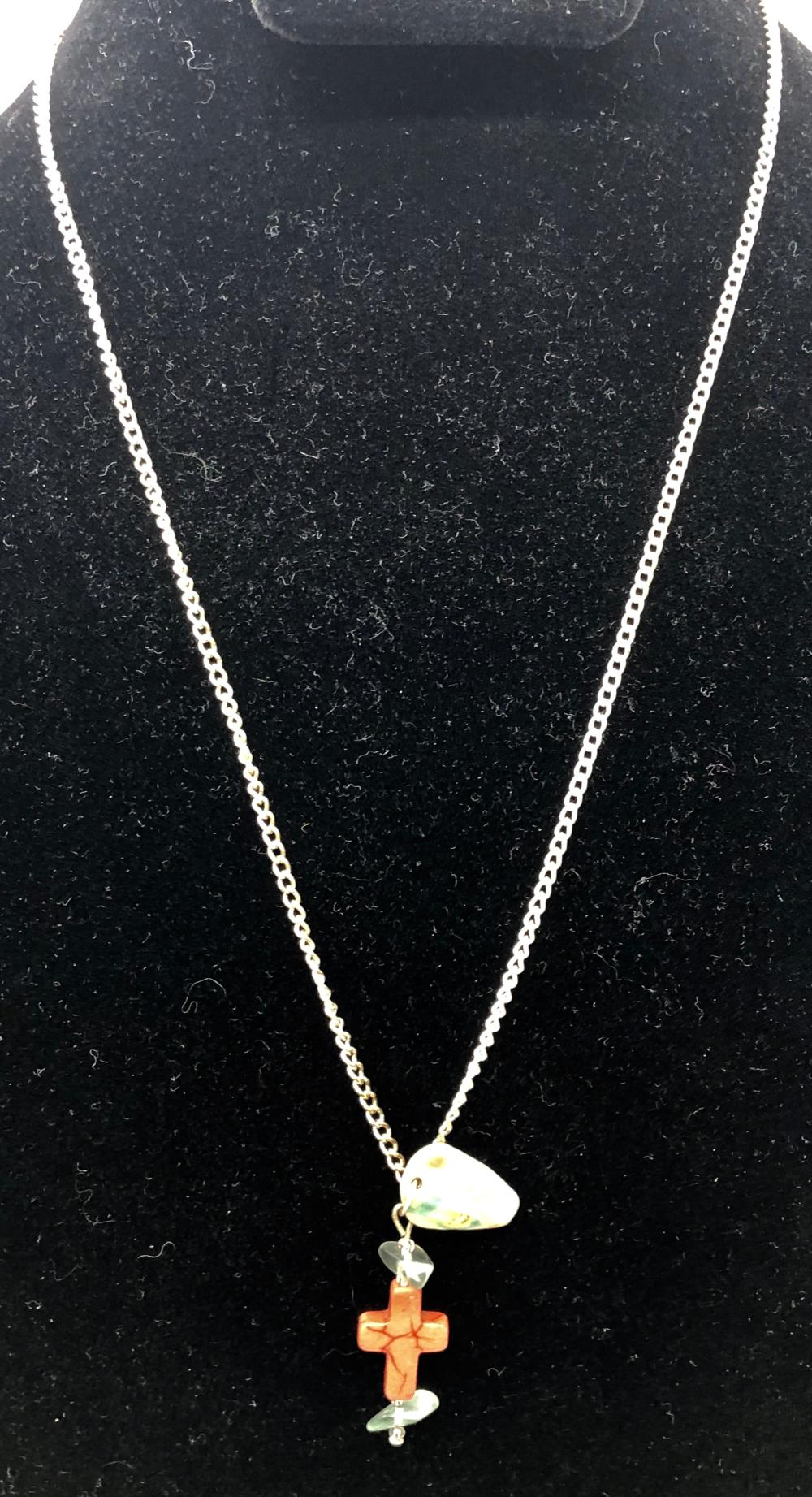 Small Crucifix on Silver Tone Chain