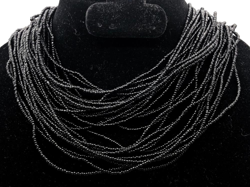 Black Multi Strand Black Necklace