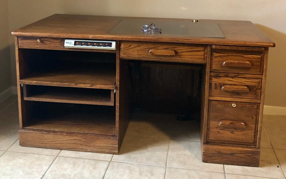 Lot 231: Oak Desk