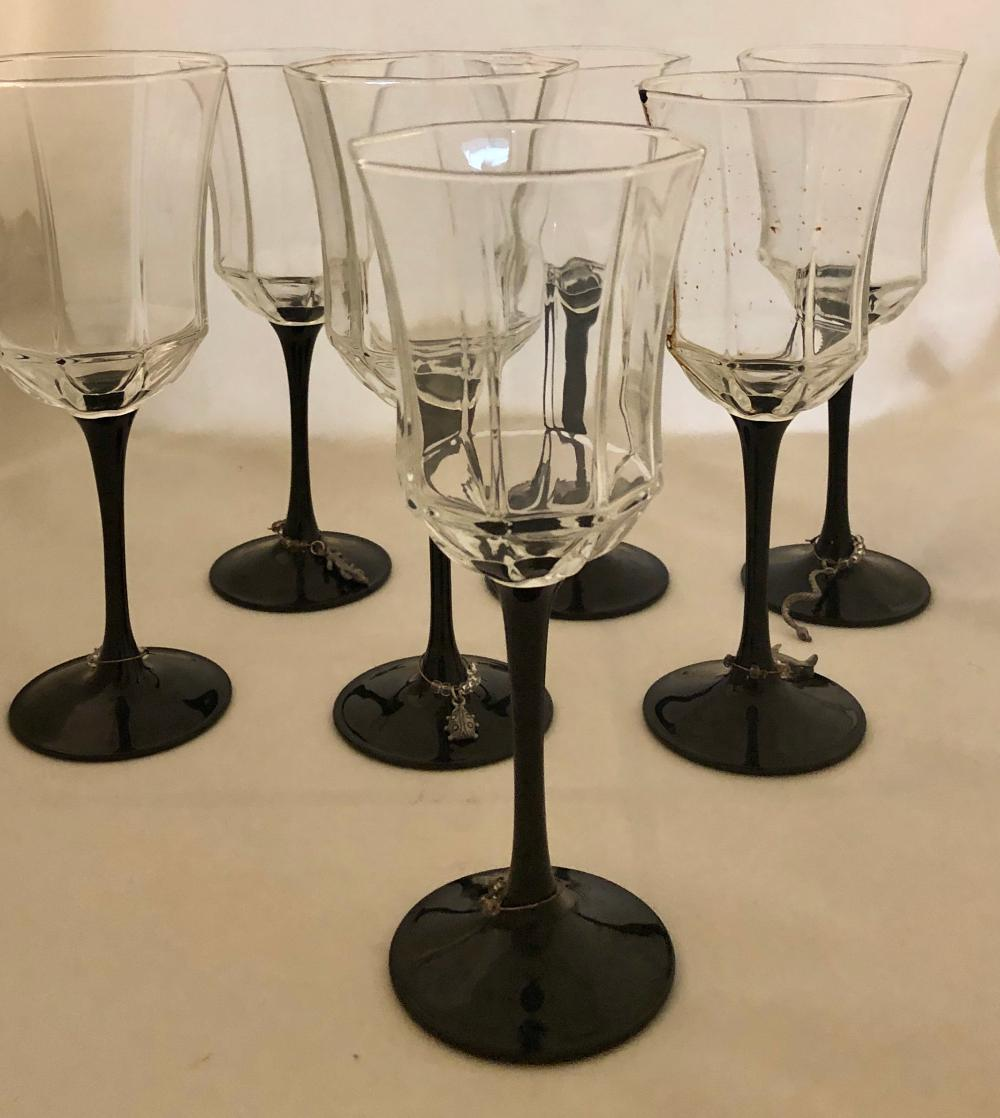 Lot 251: Black Stem Glasses