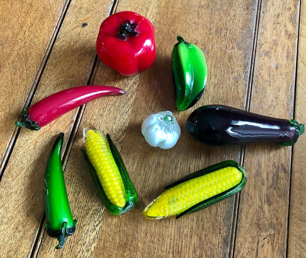 Lot 291: Glass Vegetables