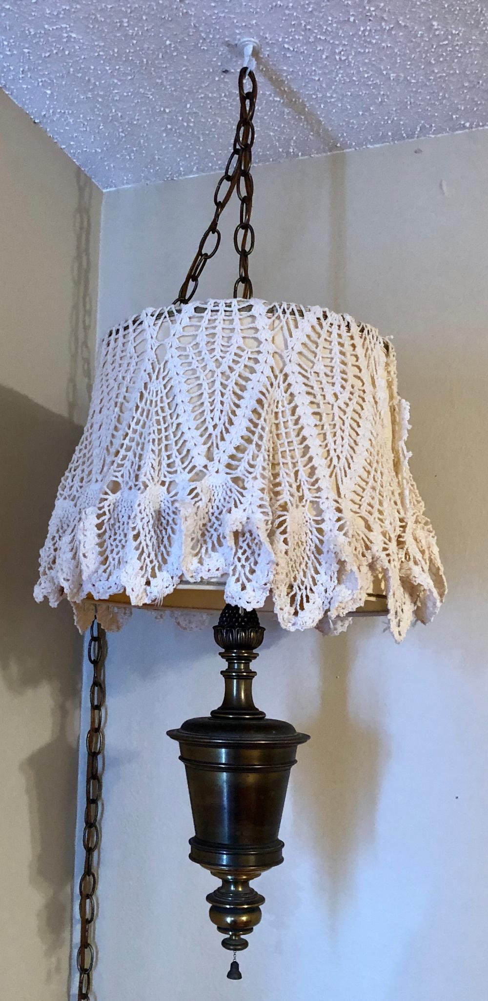 Lot 144: Swag Lamp
