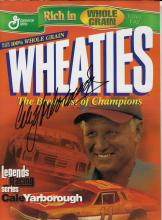 Cale Yarborough Hand Signed Wheaties Box Picture