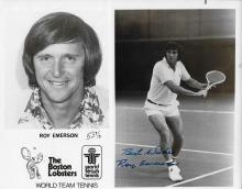 Roy Emerson Hand Signed  Photos