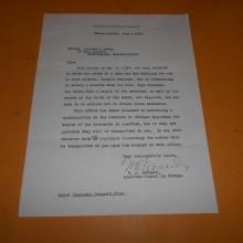 W. A. Leonard American Consul in Charge Hand Signed Letter 1927