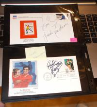 Lot of (2) Event Covers Hand Signed  by  Linda Fratianne  & Scott Hamilton