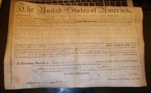 Land Grant From 1848...James Polk Signature (secretarial)