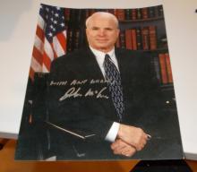 John McCain  Hand Signed Photo