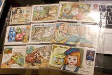 Lot of 18 Collins Hand Painted and Signed First Day Covers..