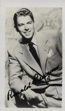 Ronald Reagan Hand Signed Black & White Photo