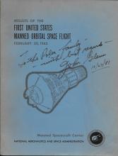 John Glenn Signed Nasa Manuel..''Results The 1st U.S.Manned Space Flt
