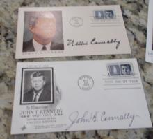 John B. Connally & Nellie Connally Hand Signed 1964 First Day Covers
